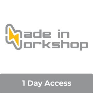 1 day access with Made in Workshop logo