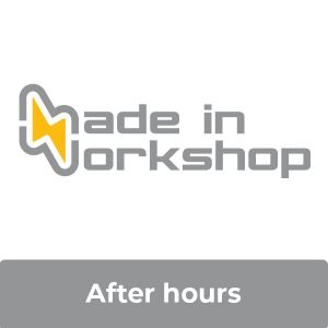 After hours access with Made in Workshop logo
