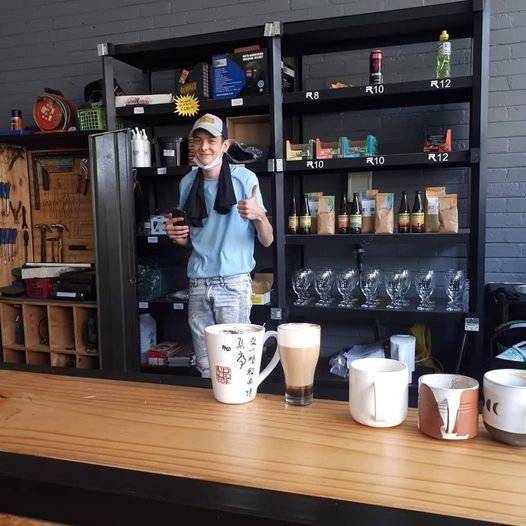 Man at coffee station named Seth